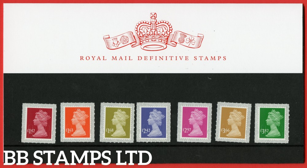 2020 New Rates £1.42 - £3.82 Definitive (112) Pack