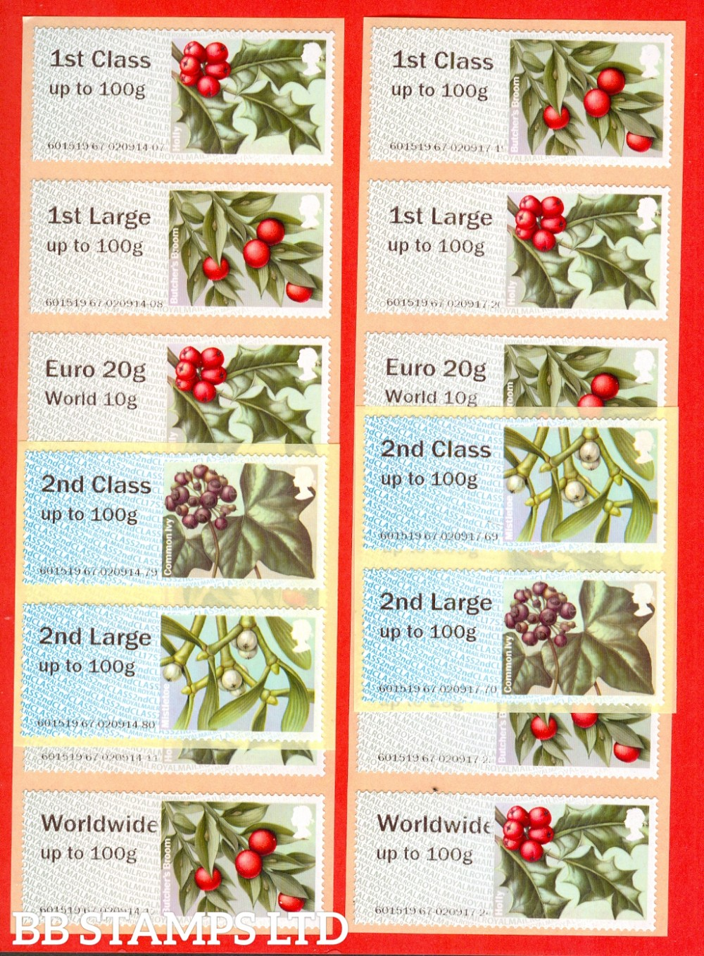 2017 Winter Greenery 2nd - W/Wide 100g R17/CL16: set of 16