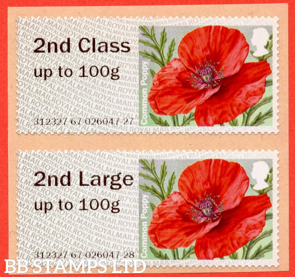 2nd & 2nd Large on 'Poppy' design, R17Y, Type IIA (BK28,P17)
