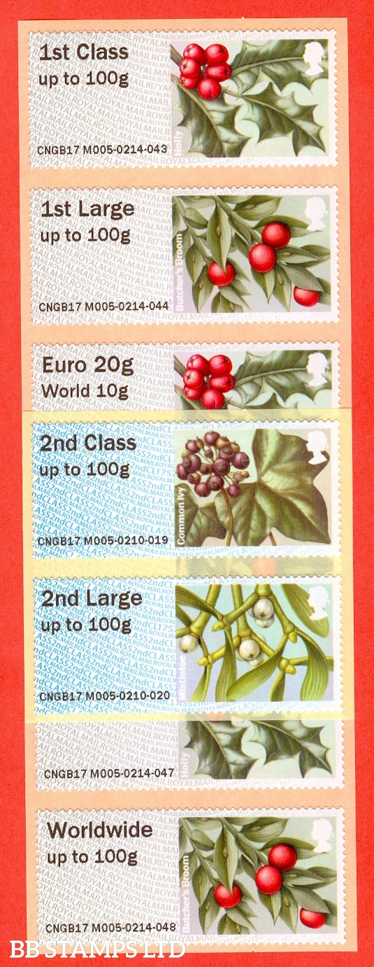 2017 Winter Greenery set of 8: R17/CL17 Type IIIA (labels may vary)