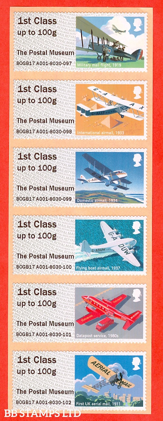 Mail By Air - The Postal Museum R17: Type IIIA 6 x 1st Class