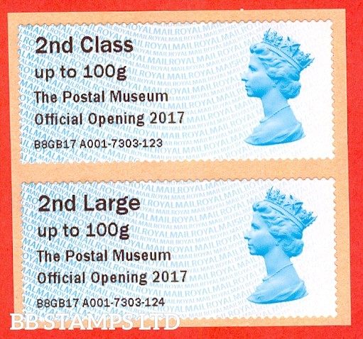 Machin 2nd Class/2nd Large The Postal Museum Official Opening 2017 (set of 2) Type IIIA: MA15  (issued 2018)