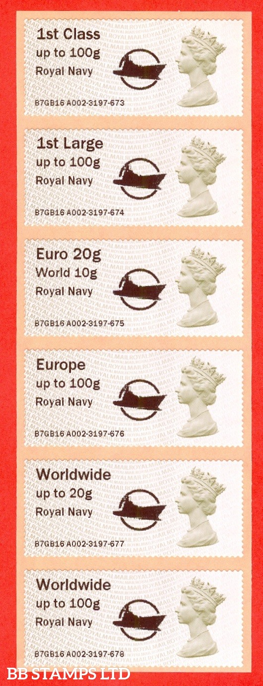 Royal Navy + Circle Logo: Type IIIA NO DATE 1st - W/Wide 100g (set of 6)