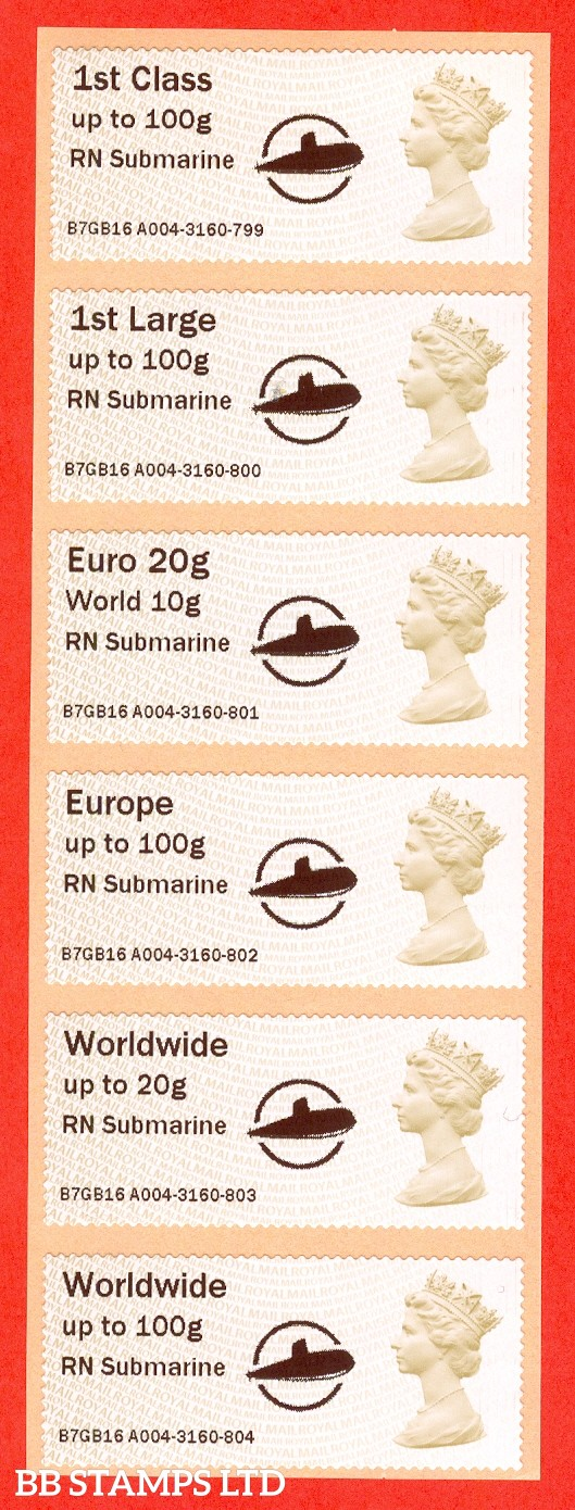 RN Submarine +  Circle Logo: MA15 Type IIIA 1st - W/Wide 100g (set of 6)