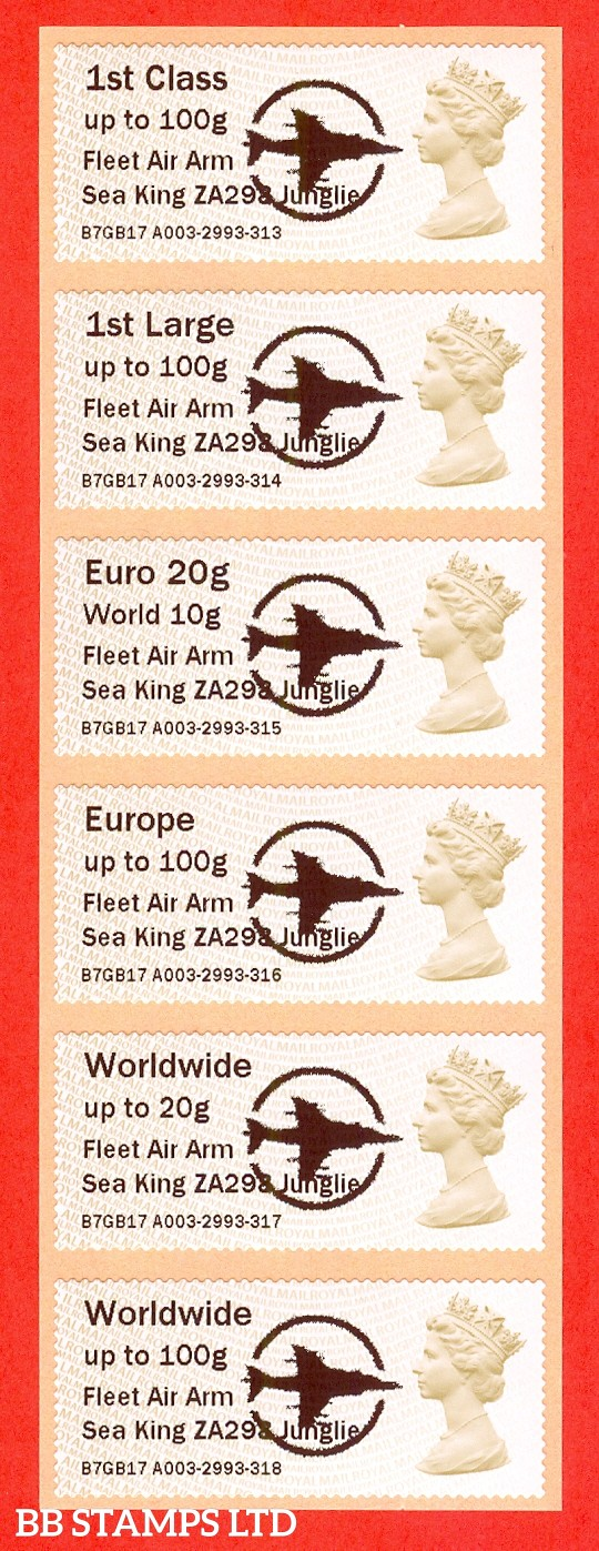 Fleet Air Arm Sea King ZA298 Junglie: MA15 Type IIIA 1st - W/Wide 100g (set of 6)