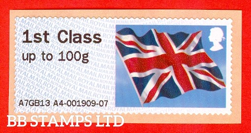 Union Flag 1st Class Dated MA13 Type IIIA (2019 SG Supplement Album page FS12c) (BK28,P7)