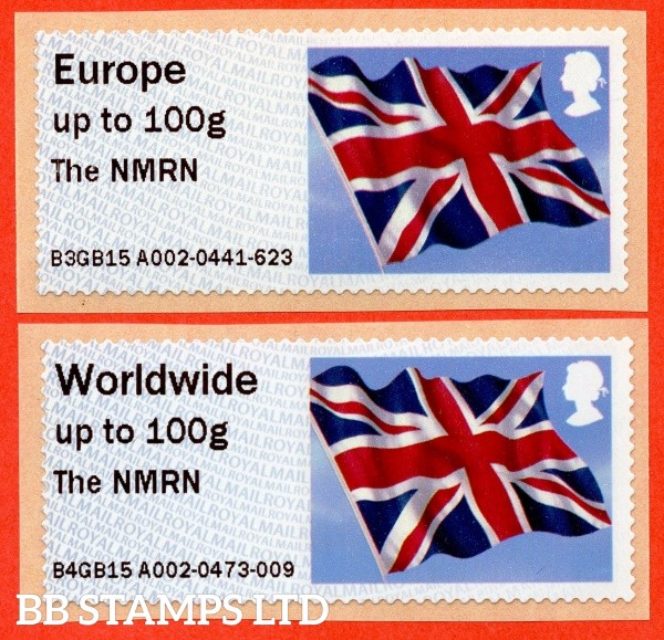 Union Flag The NMRN Europe 100g & W/Wide 100g (set of 2)