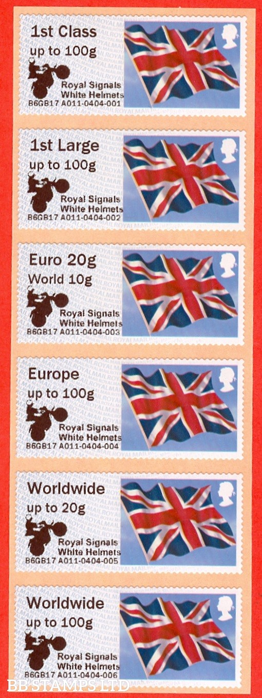 Union Flag Logo + Royal Signals White Helmets 1st - W/Wide 100g (set of 6) NO DATE: Type IIIA