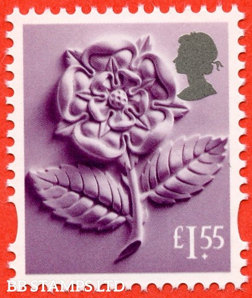 £1.55 Deep Reddish lilac and silver Tudor Rose: Litho Cartor (2019) (AVAILABLE From: 19/03/2019)