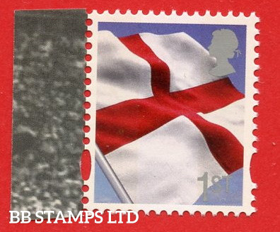 1st Class St Georges Flag Printed Litho By Cartor DY7 (Silver Queen's head) (2013)