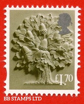 £1.70 Olive Green and silver Oak Tree: Litho Cartor (2020) 23.12.20