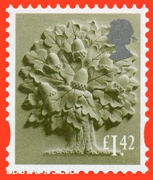 1.42 Olive Green and silver Oak Tree: Litho Cartor (2020) 17.3.20