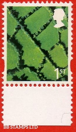 1st Class Black and Greenish Yellow (DLR)-Sheet stamp