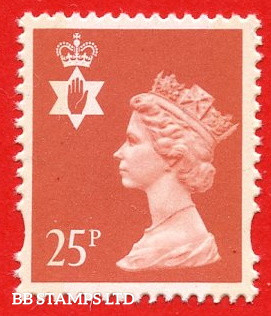 25p Red (2 Bands) (Questa yellow Phosphor, sheet stamp)
