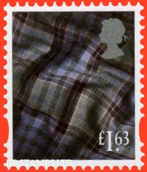 £1.63 Bright Magenta, greenish yellow, new blue, grey-black Tartan Litho Cartor Grey Head (2020) 17.3.20