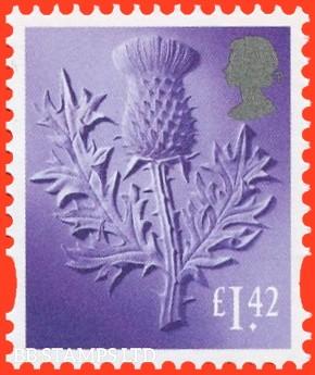 £1.42 Bright Lilac Thistle: Litho Cartor (2020) 17.3.20