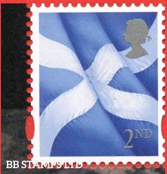 2nd Class Scottish Flag: Grey Head Small Value - Cartor Litho 17.03.20-from DY33
