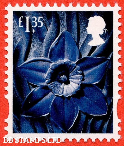 £1.35 greenish-blue, deep greenish blue and grey black Daffodil - Cartor Litho (2019) (AVAILABLE From: 19/03/2019)