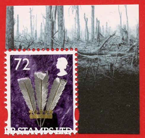 W109 72p Violet, Gold, Silver and Black (2 Bands) (from MS2685)