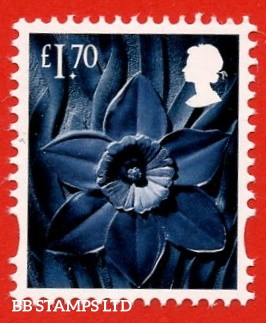 £1.70 greenish-blue, deep greenish blue and grey black Daffodil - Cartor Litho (2020) 23.12.20