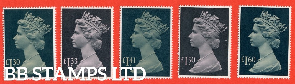 1983/87 Long format High Values. Set of 5 ( £1.30 - £1.60 )