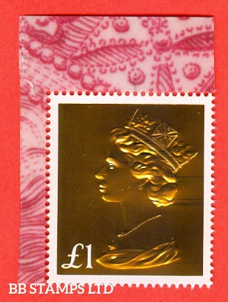 £1.00 Gold large Format (from 2017 Machin Anniversary Prestige Book DY21)