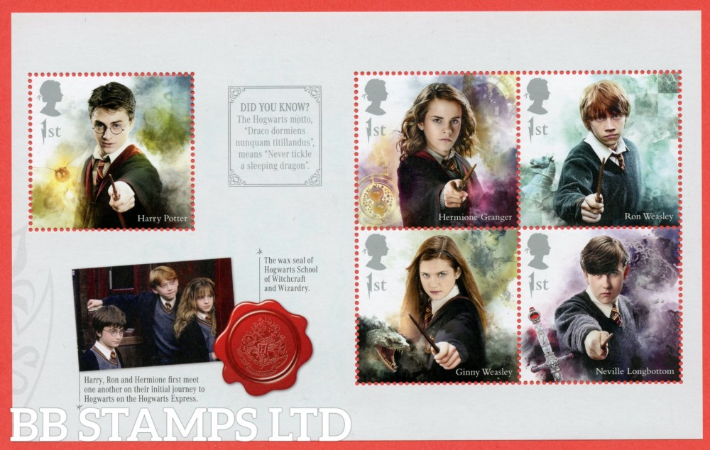 2018 5 x 1st Class commemorative From DY26 ( SG. 4141, 4143, 4145, 4147 & 4149 ) ( Harry Potter ) ( Pane 1 )