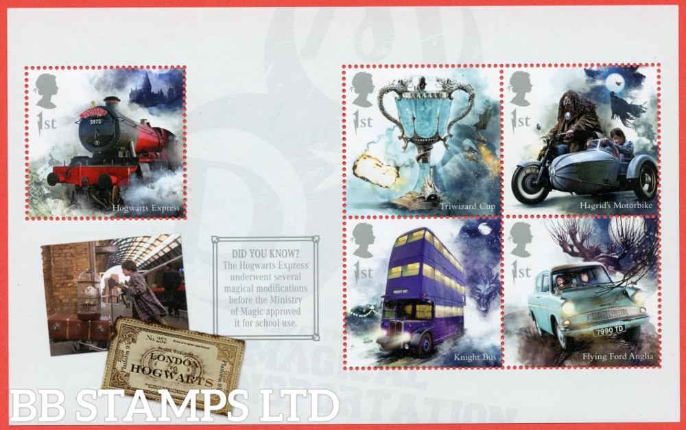 2018 5 x 1st Class commemorative From DY26 ( SG. 4142, 4144, 4146, 4148 & 4150 ) ( Harry Potter ) ( Pane 2 )