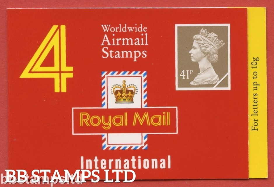 £1.64 (4 x 41p) ( Layout B ), Yellow Fluor, as Type GM1 (Walsall)
