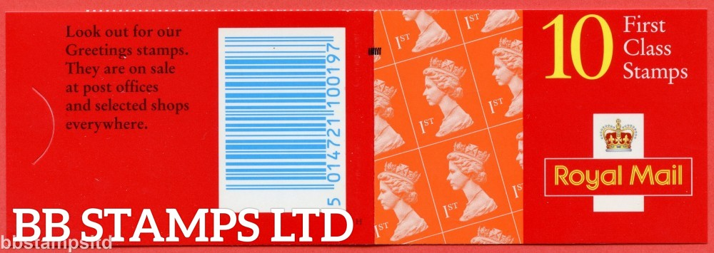 10 x 1st Orange Elliptical as Cover Type HA11, PVA layflat Gum, Bluish (Harrison), with Black Bar Square on cover. Not listed in SG. (JMD)