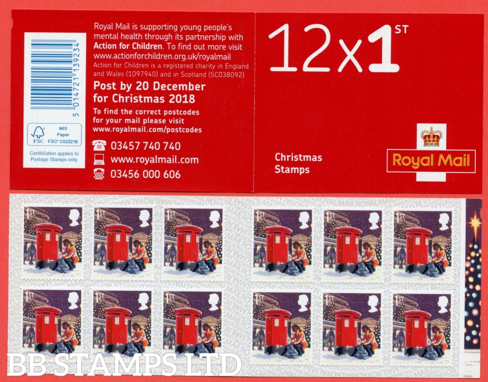 2018 12 x 1st Class Postman and Postbox.