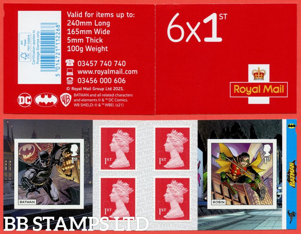 PM82 2021 DC Collection Batman & Robin 6 x 1st class Plus 4 Machin (M21L-MCIL) (under UV light illustrations appear) 17.09.21