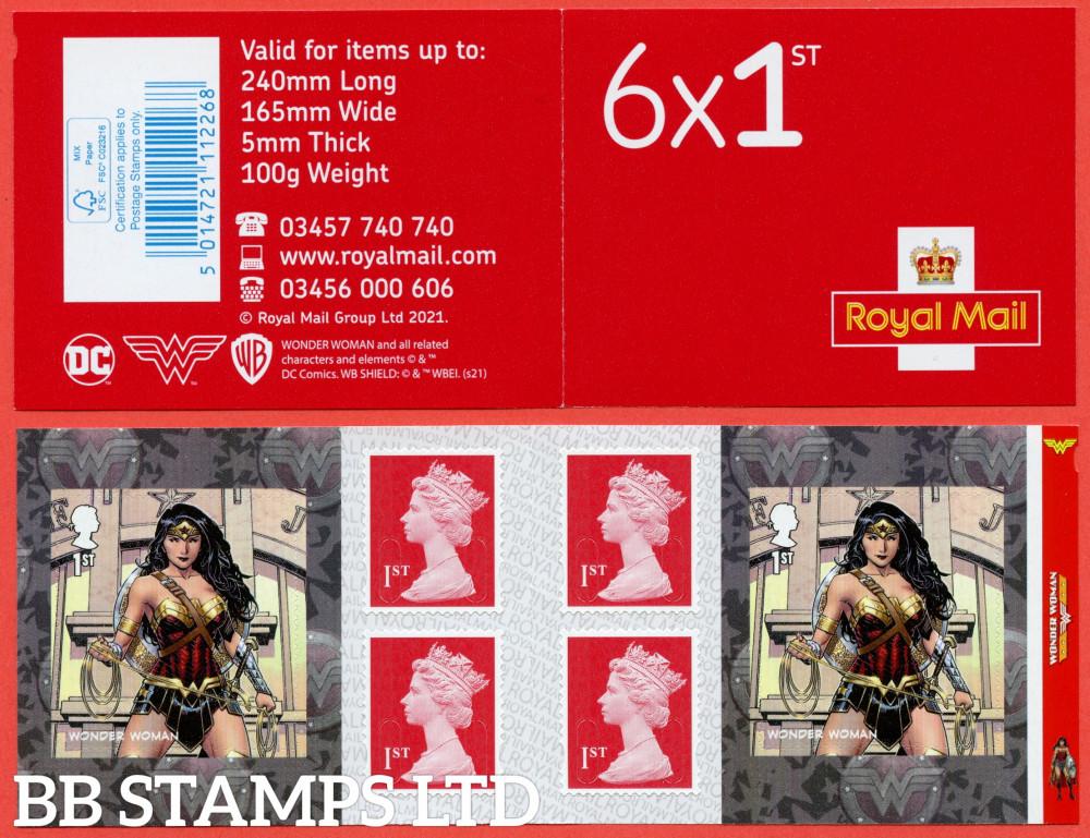 PM83 2021 DC Collection Wonder Woman 6 x 1st class Plus 4 Machin (M21L-MCIL) (under UV light illustrations appear) 17.09.21