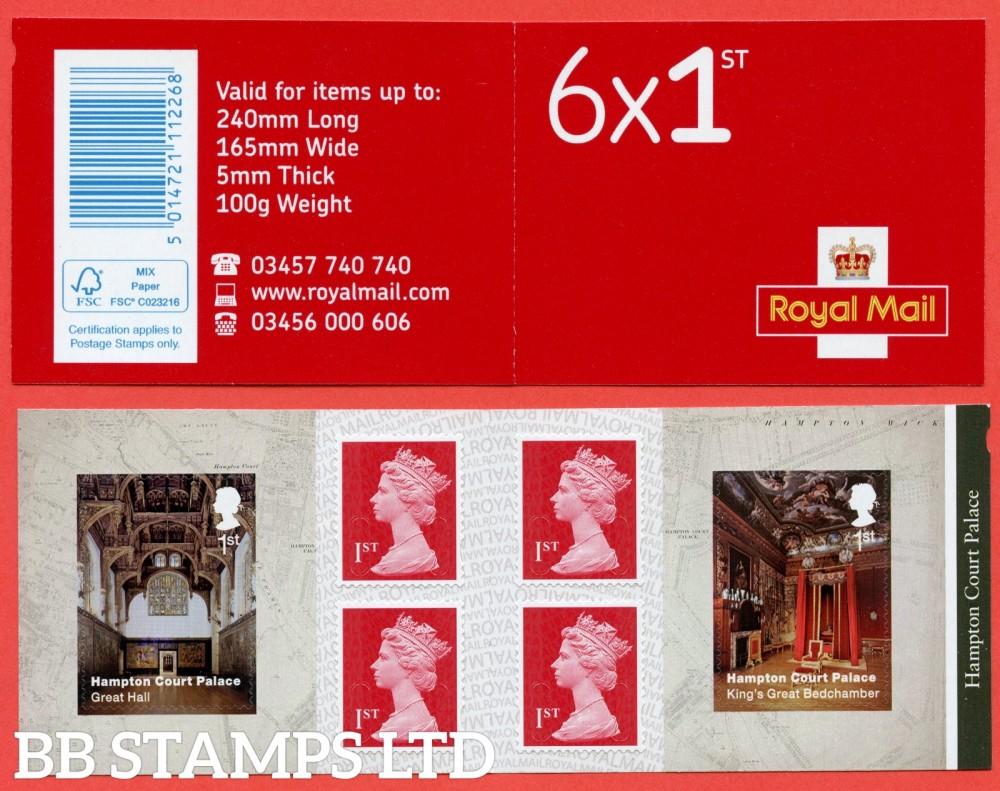 PM62 6 x 1st. Hampton Court Palace x 2 ( Great Hall & Kings Great Bedchamber ) Plus 4 Machin (M18L)