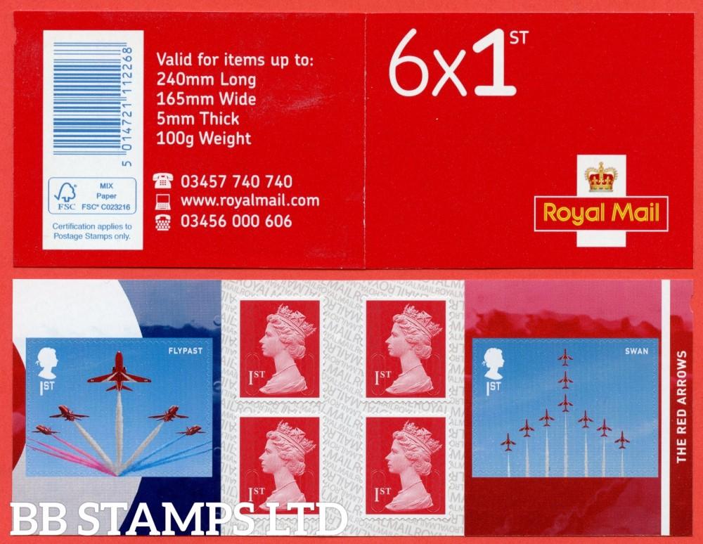 2018 6 x 1st. RAF x 2 (Red Arrow's Flypast & Swan) Plus 4 x Machin (M18L).