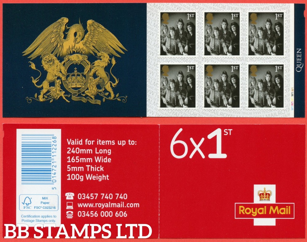 2021 6 x 1st Queen  (Booklet contains stamp 4494?) (29.03.21)