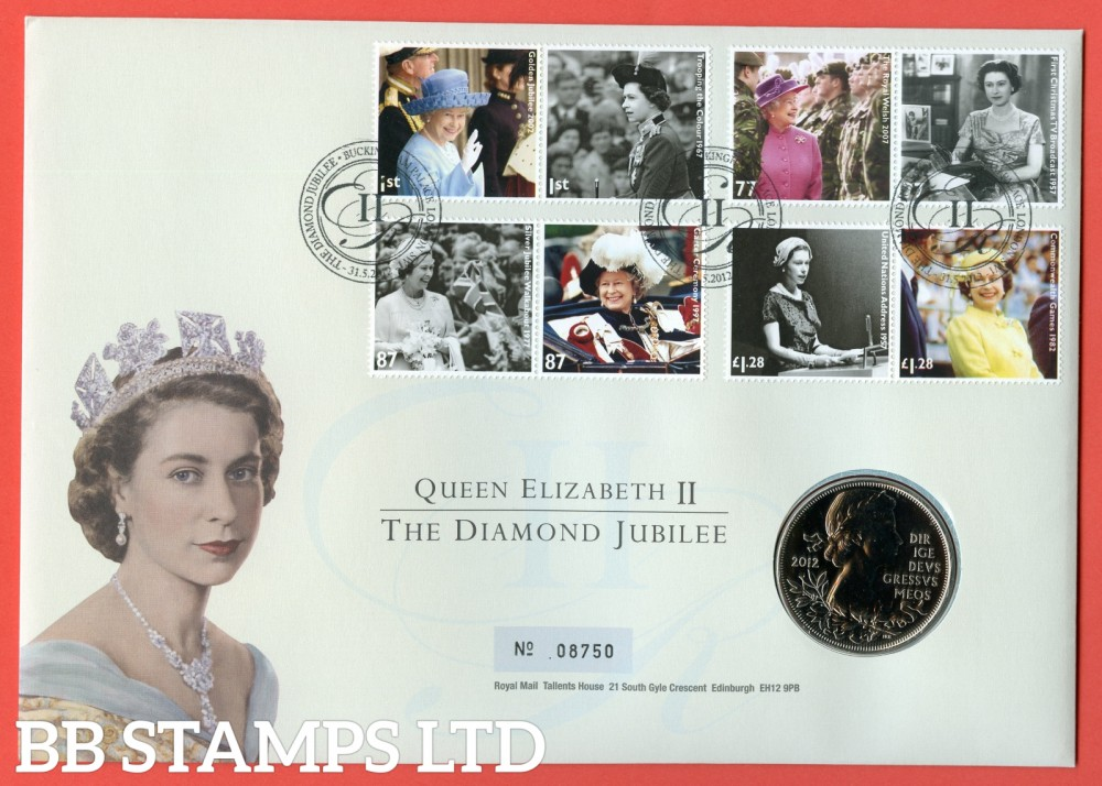 2012 Diamond Jubilee £5 Coin Cover. SG. 3319 - 3326