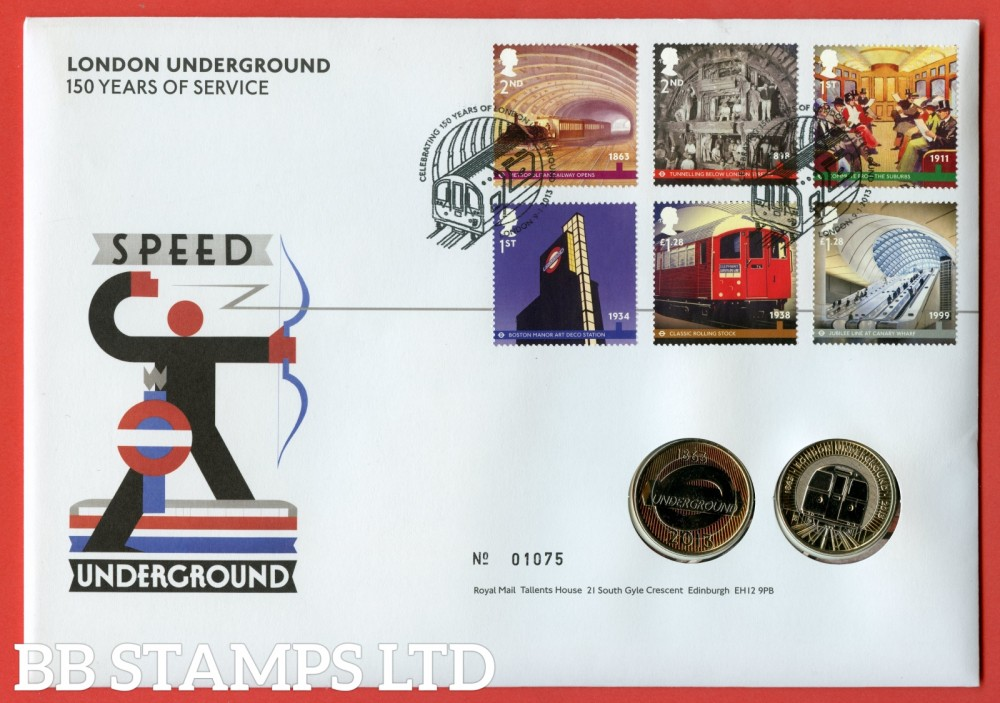2013 150th Years of London Underground 2 x £2 Coin Cover. SG. 3423 - 3428