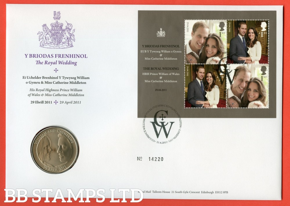 2011 The Royal Wedding £5 Coin Cover. SG. MS3180