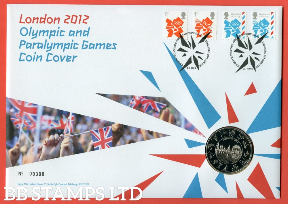 2012 Olympic and Paralympic Games £5 Coin Cover. SG. 3250 - 3253