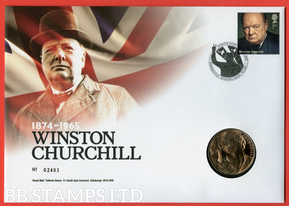 2014 50th Death Anniversary of Winston Churchill £2 Coin Cover. SG. 3645