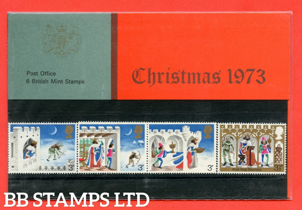 1973 Christmas Pres Pack Type A = Narrow Red Band - 4mm.
