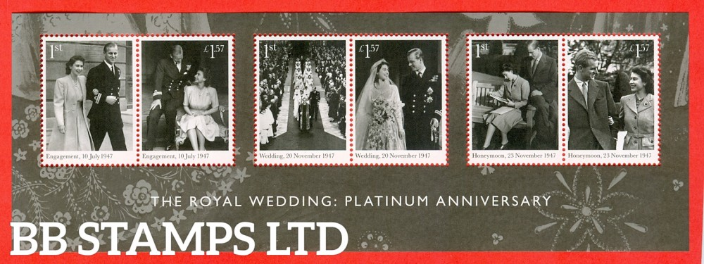 2017 The Royal Wedding Platinum Anniversary Minisheet (No Barcode) (available from 20/11/17)