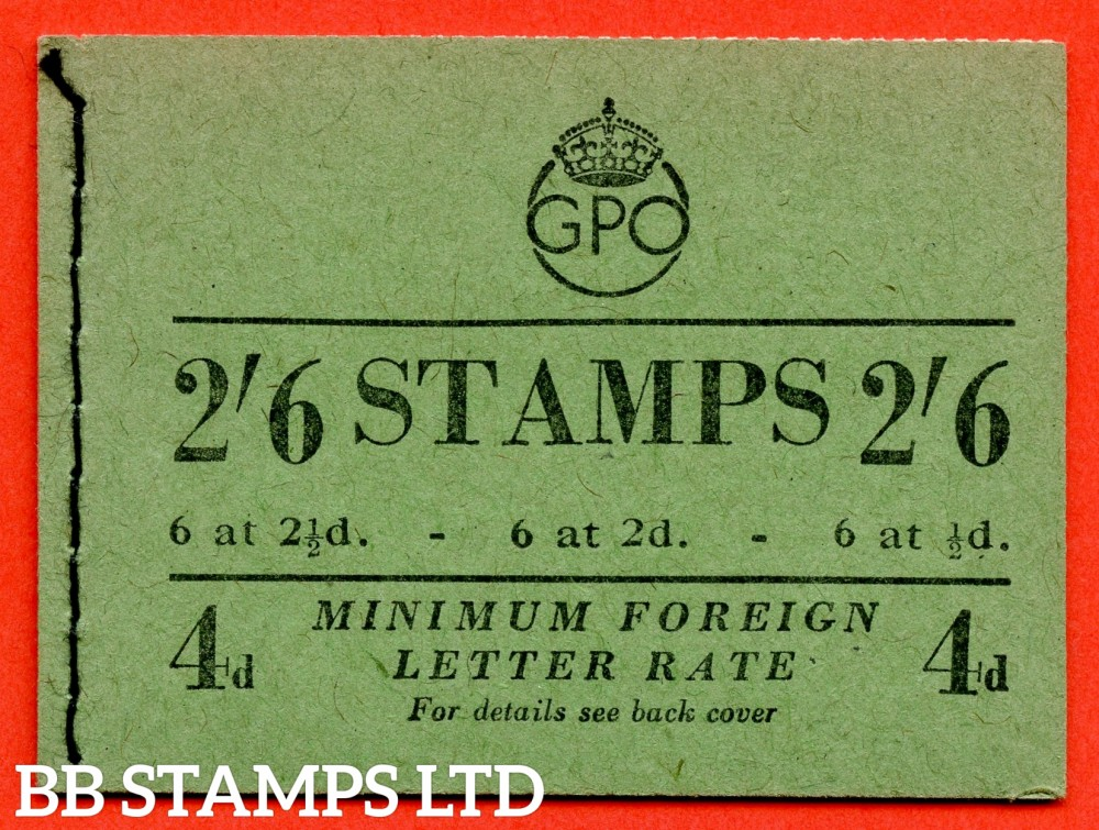"SG. BD18. "" 2/6 "". Edition number 88. February 1951. A very fine complete example of this George VI booklet."