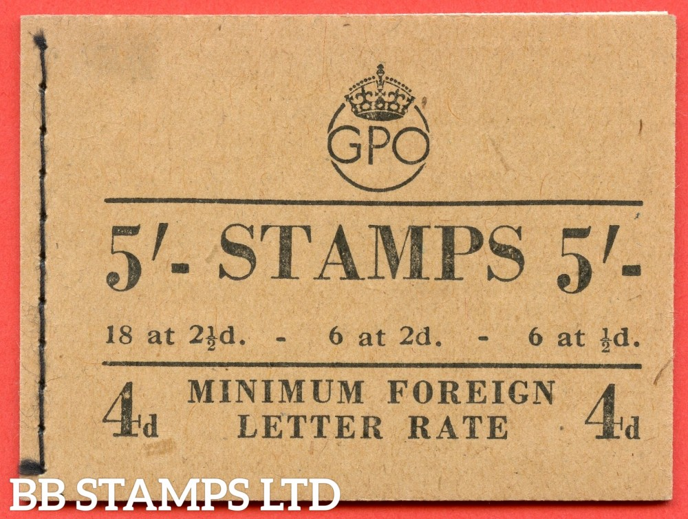"SG. BD28 (49). "" 5/- "".December 1950. A very fine example of this George GVI booklet."