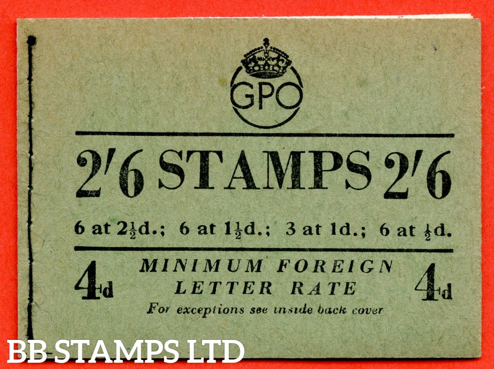"SG. BD20. "" 2/6 "". Edition number 8. October 1952. A very fine complete example of this George VI booklet."