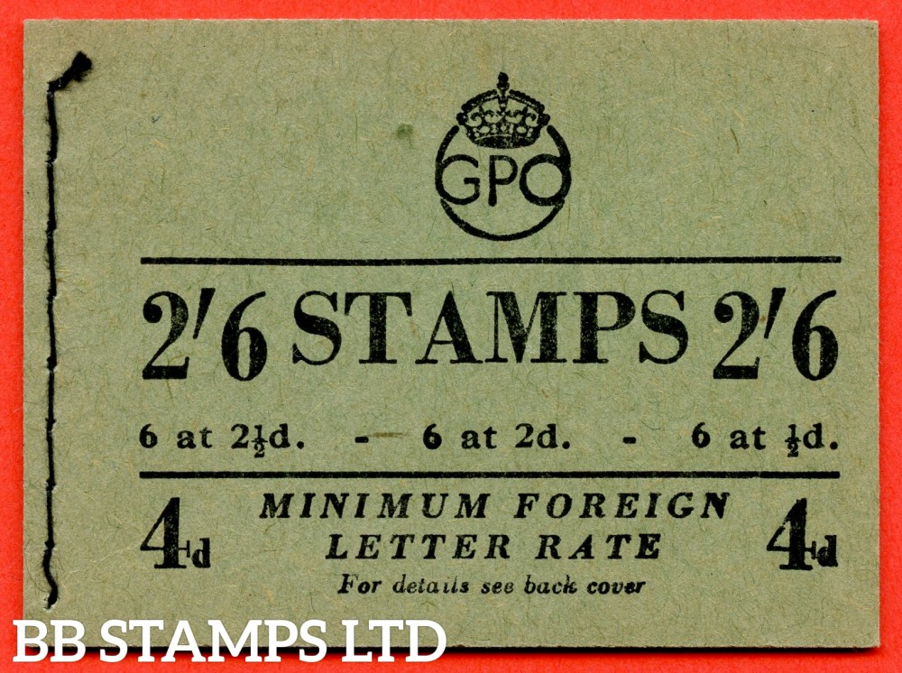 "SG. BD19. "" 2/6 "". Edition number 1. May 1951. 1951. A very fine complete example of this George VI booklet."