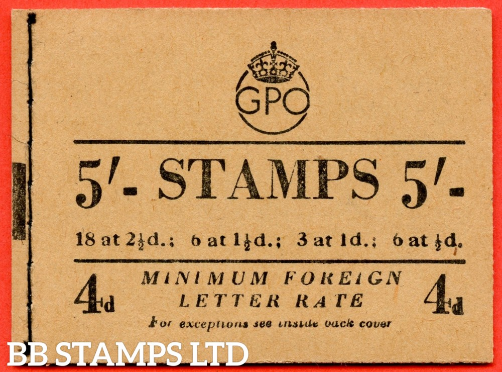 "SG. BD31 ( 5 ). "" 5/- "". November 1952. George VI. A very fine example of this George VI booklet."