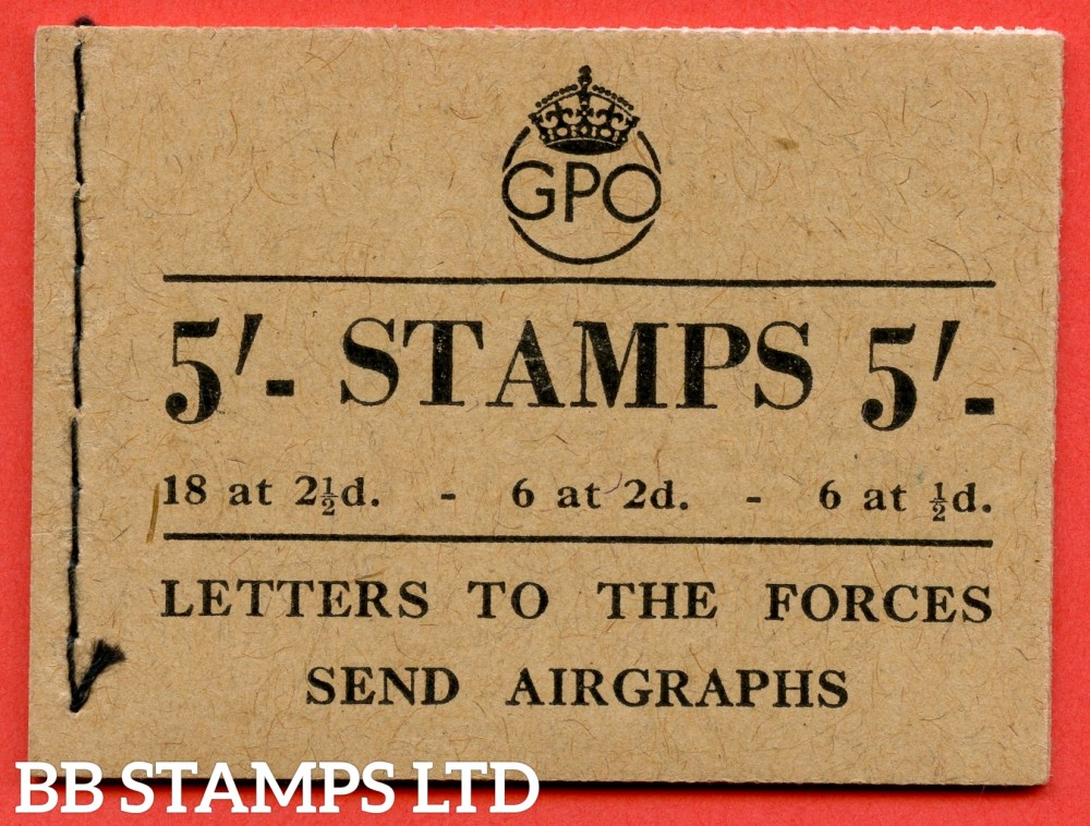 "SG. BD28 (7). "" 5/- "".Edition number 7. August 1944. A very fine example of this George GVI booklet."