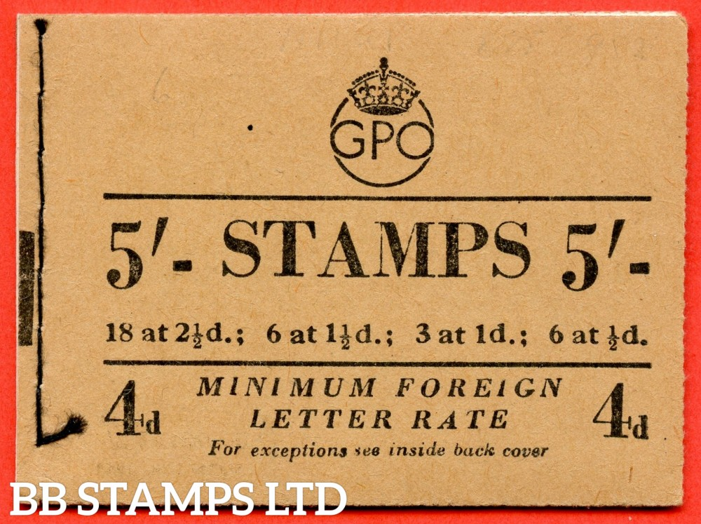 """SG. BD31 ( 4 ). """" 5/- """". September 1952. George VI. A very fine example of this George VI booklet."""